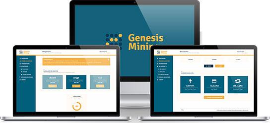 Интерфейс личного кабинета Genesis Mining